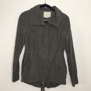 HeiHei Anthropologie utility lace back jacket S